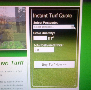 Calculate a price for your turf online
